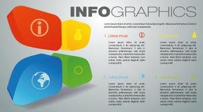Vecteur coloré moderne de calibre d'options d'infographics avec l'ele 3D Photographie stock