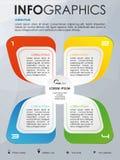 Vecteur coloré moderne de calibre d'options d'infographics avec la couleur Image libre de droits