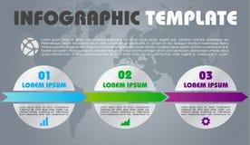 Vecteur coloré moderne de calibre d'options d'infographics avec le cercle Photos libres de droits