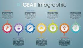 Vecteur coloré moderne de calibre d'options d'infographics avec le colorf Photos stock