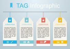 Vecteur coloré moderne de calibre d'options d'infographics avec le colorf Image stock