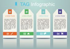 Vecteur coloré moderne de calibre d'options d'infographics avec le colorf Photo stock
