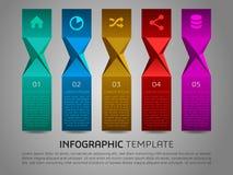 Vecteur coloré moderne de calibre d'options d'infographics avec le colorf Images stock