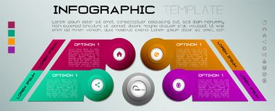 Vecteur coloré moderne de calibre d'options d'infographics avec le colorf Photos libres de droits