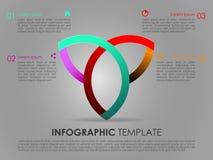 Vecteur coloré moderne de calibre d'options d'infographics avec le triang Image libre de droits