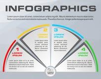 Vecteur coloré moderne de calibre d'options d'infographics avec p gris Images libres de droits