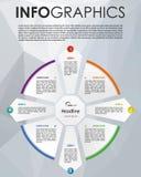 Vecteur coloré moderne de calibre d'options d'infographics en cercle W Image libre de droits