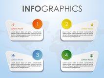 Vecteur coloré moderne de calibre d'options d'infographics sur le CCB bleu Photo libre de droits