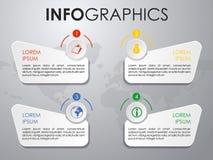 Vecteur coloré moderne de calibre d'options d'infographics sur le CCB gris Image stock