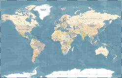 Vecteur coloré politique de carte du monde illustration stock