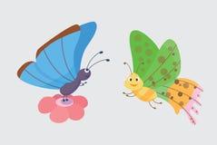 Vecteur coloré de papillons Photos libres de droits
