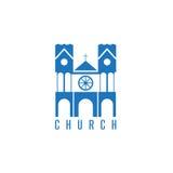 Vecteur conceptuel avec le bâtiment colonial sur un religieux illustration libre de droits