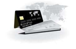 Vecteur conceptuel par la carte de crédit Image libre de droits