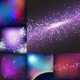 Vecteur cosmique de constellation de nuit de cosmos de nébuleuse d'astronomie de ciel de fond d'univers d'illustration de l'espac illustration libre de droits