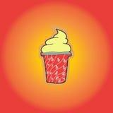 vecteur crème procurable de graphisme de glace Images libres de droits