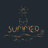 Vecteur créatif coloré abstrait d'heure d'été Photo stock