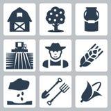 Vecteur cultivant des icônes réglées