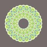 Vecteur décoratif coloré complexe de mandala Photos stock