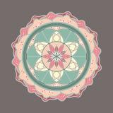 Vecteur décoratif coloré de mandala de fleur Photos libres de droits