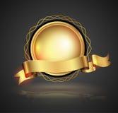 vecteur détaillé de représentation d'illustration d'or d'insigne illustration libre de droits