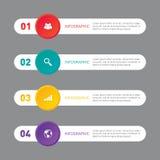 Vecteur d'élément de conception de calibre de bannière de rapport de gestion d'Infographic Photo libre de droits