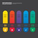 Vecteur d'élément de conception de disposition de calibre de rapport de gestion d'Infographic Photos stock