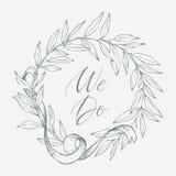 Vecteur d'élément et d'objet tirés par la main de conception Élément floral de vintage Type de mariage Photos stock