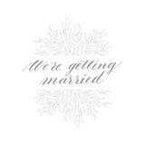 Vecteur d'élément et d'objet tirés par la main de conception Élément floral de vintage Type de mariage Images stock