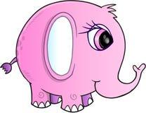 Vecteur d'éléphant rose Images libres de droits