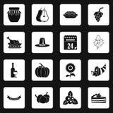 Vecteur d'équerres d'icônes de thanksgiving Photographie stock libre de droits