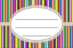 Vecteur d'étiquette de crayon Images stock