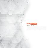 Vecteur 3d abstrait hexagonal Images libres de droits