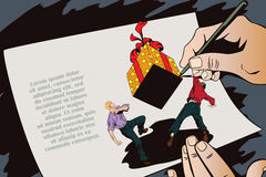 Vecteur d'affaires de la présentation Template Cadeau en baisse énorme illustration stock
