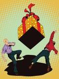 Vecteur d'affaires de la présentation Template Cadeau en baisse énorme illustration libre de droits