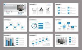 Vecteur d'affaires de la présentation Template Utilisation dans le rapport annuel, d'entreprise illustration stock