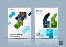 Vecteur d'affaires La disposition de calibre de brochure, couvrent la conception moderne a Images libres de droits