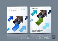 Vecteur d'affaires La disposition de calibre de brochure, couvrent la conception moderne a Photographie stock libre de droits