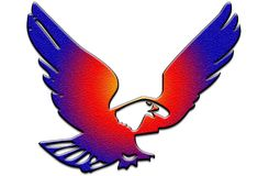 Vecteur d'aigle de vol illustration libre de droits
