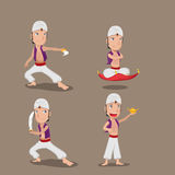 Vecteur d'Aladdin Persian Character Cartoon Set illustration stock