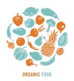 Vecteur d'aliment biologique Image stock