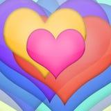 Vecteur d'amour dans coloré Photographie stock