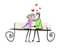 Vecteur d'amour de couples illustration de vecteur