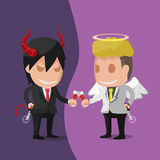 Vecteur d'Angel Devil Worker Business Man Illustration Libre de Droits