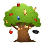 vecteur d'arbre d'éducation Photo stock