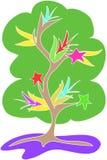 Vecteur d'arbre d'étoile illustration libre de droits
