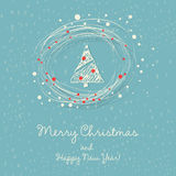 vecteur d'arbre d'illustration de Noël Images stock