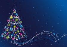 vecteur d'arbre de Noël Photos stock