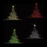 Vecteur d'arbre de Noël d'étoile Photos stock