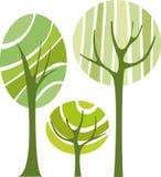 vecteur d'arbres Photos stock