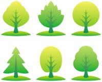 vecteur d'arbres d'illustration Image stock